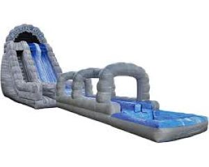 22' Roaring River Dual Lane Water Slide with Slip N' Slide Rental in VA, DC, MD  in VA, DC, MD