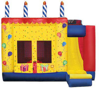 4 in 1 Happy Birthday Bounce & Slide Combo Rental