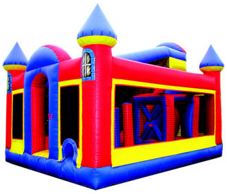 70' Backyard Castle Obstacle Course Rental