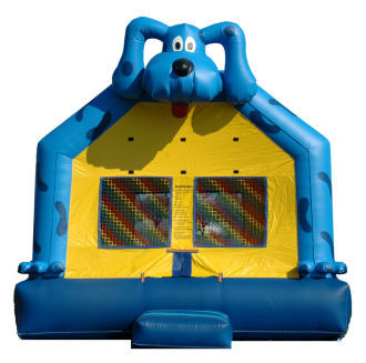 15' x 15' Blue Dog Deluxe MoonBounce Rental