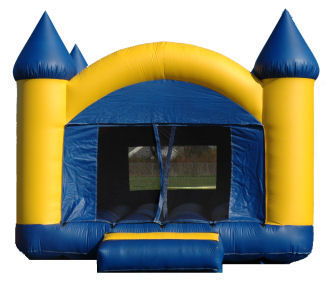 15' x 15' Blue & Yellow Castle Deluxe MoonBounce Rental