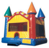 15' x 15' Primary Colors Castle MoonBounce Rental