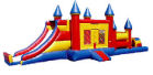 44' Castle Bounce & Slide Obstacle Course Rental