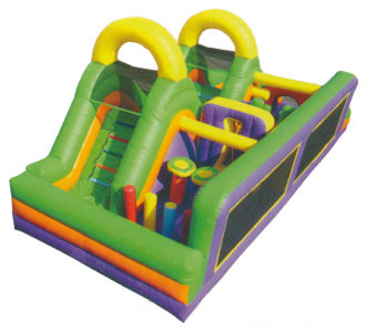 Double Slide Obstacle Course Rental