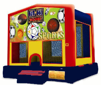 15' x 15' Sports Deluxe MoonBounce Rental