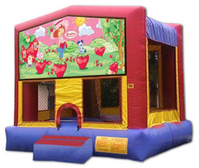 15' x 15' Strawberry Shortcake MoonBounce, Bounce House or Moonwalk Rental