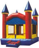 11' X 11' Primary Colors Castle Deluxe MoonBounce Rental