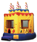 15' x 15' Birthday Cake #1 Deluxe MoonBounce Rental
