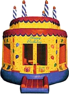 15' x 15' Birthday Cake #2 MoonBounce, Bounce House or Moonwalk Rental