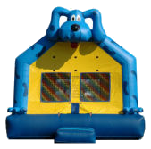 15' Blue Dog Deluxe MoonBounce Rental
