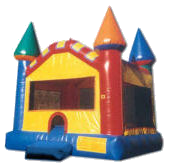 15' Primary Colors Castle MoonBounce Rental