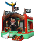 4 in 1 Pirate Moon Bounce & Bounce House & Slide Combo Rental