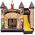 4 in 1 Wizard Moonbounce & Slide Combo Rental
